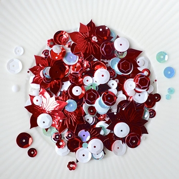 Little Things From Lucy's Cards PRETTY POINSETTIA Sparkly Shaker Mix LBMS17