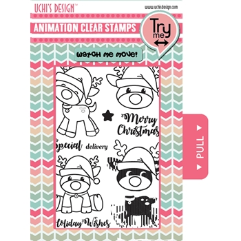 Uchi's Design SANTA'S REINDEER Clear Stamp AS12