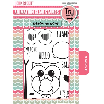 Uchi's Design OWLY EYES Clear Stamp AS10
