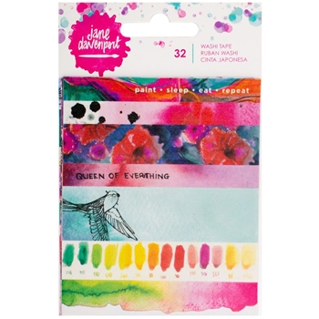 Jane Davenport STRIPS AND PHRASES Washi Tape Book Mixed Media 376681