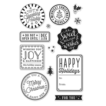 Hero Arts Clear Stamp HOLIDAY BADGES CM214