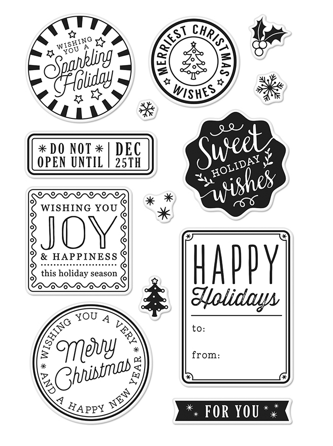 Hero Arts Clear Stamp HOLIDAY BADGES CM214 zoom image