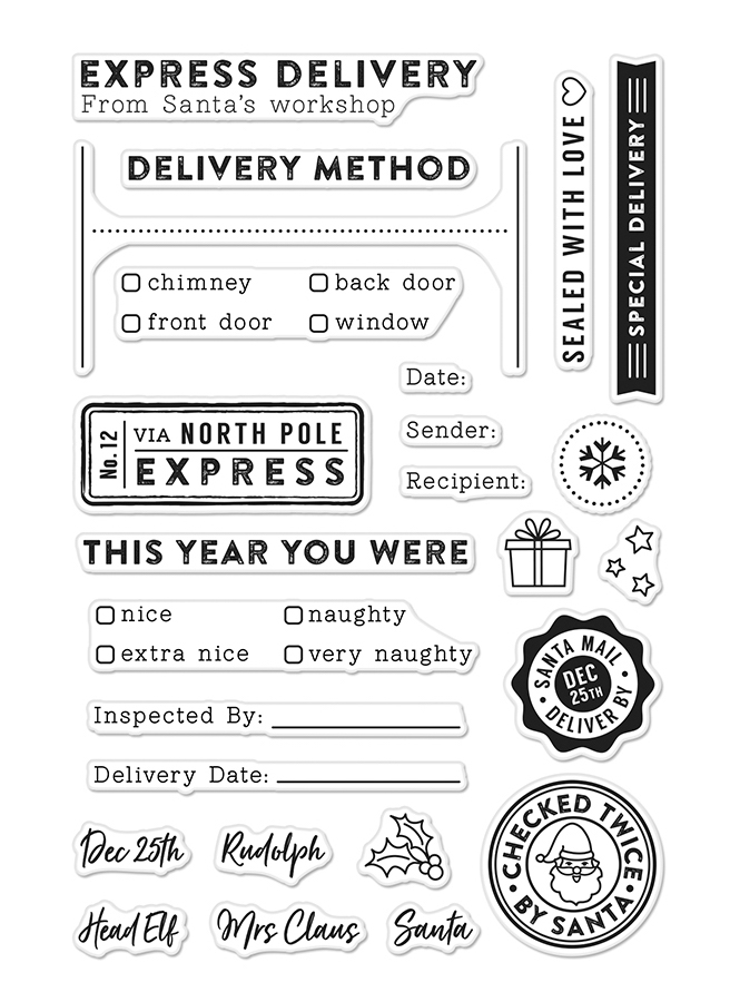 Hero Arts Clear Stamp HOLIDAY LABELS CM213  zoom image