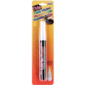 Marvy WHITE BISTRO FINE POINT Chalk Marker 482c