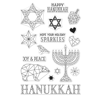 Hero Arts Clear Stamp HAPPY HANUKKAH CM216