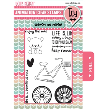 Uchi's Design LET'S RIDE Clear Stamp AS11