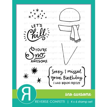 Reverse Confetti SNO AWESOME Clear Stamp Set