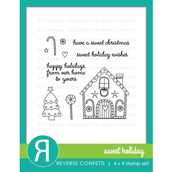 Reverse Confetti SWEET HOLIDAY Clear Stamp Set