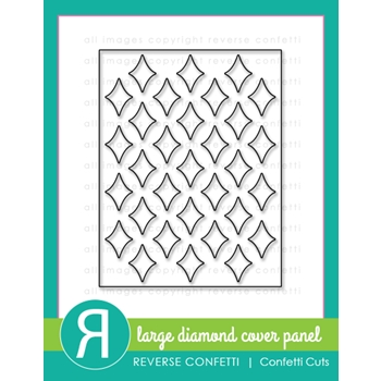 Reverse Confetti Cuts LARGE DIAMOND Cover Panel Die