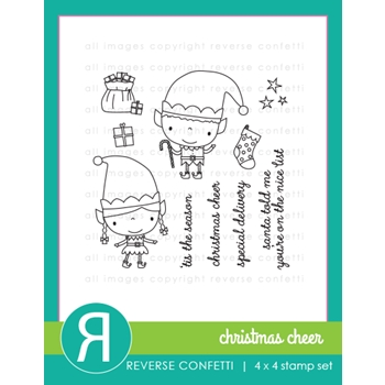 Reverse Confetti CHRISTMAS CHEER Clear Stamp Set