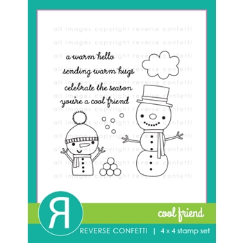 Reverse Confetti COOL FRIENDS Clear Stamp Set