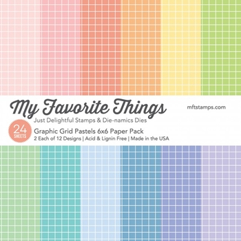 My Favorite Things GRAPHIC GRID PASTELS 6x6 Inch Paper Pack 17630