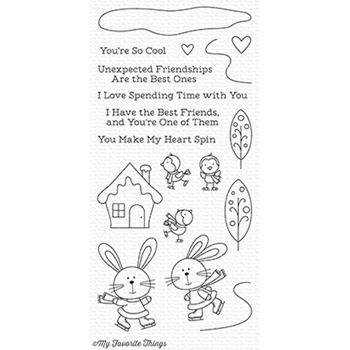 My Favorite Things YOU MAKE MY HEART SPIN Clear Stamps CS246