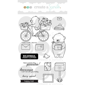 Create A Smile BEARMAIL Clear Stamps clcs64