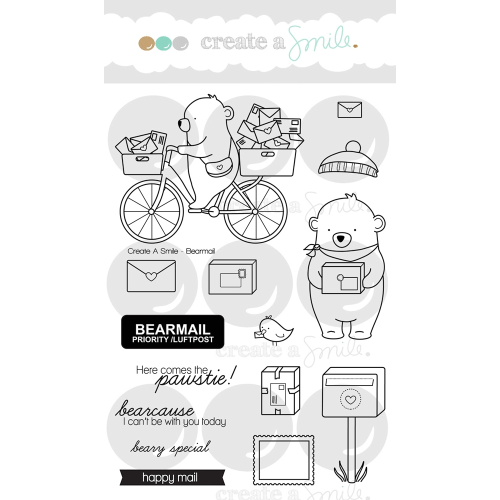 Create A Smile BEARMAIL Clear Stamps clcs64 zoom image