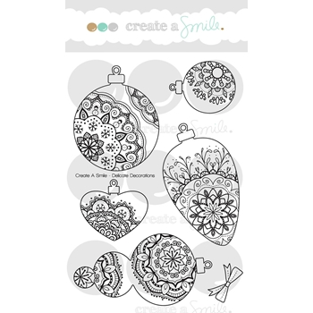 Create A Smile DELICATE DECORATIONS Clear Stamps clcs65