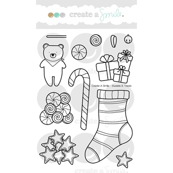 Create A Smile SWEETS & TREATS Clear Stamps clcs66