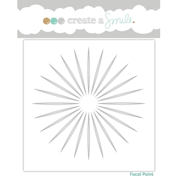 Create A Smile FOCAL POINT Stencil scs23