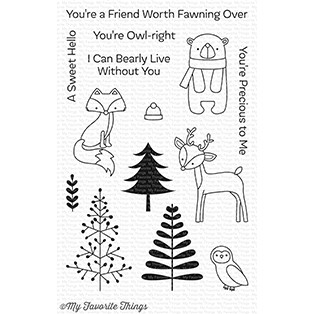 My Favorite Things FRIENDS IN THE FOREST Clear Stamps CS249