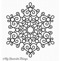 My Favorite Things MESMERIZING MANDALA Background Rubber Cling Stamp BG94