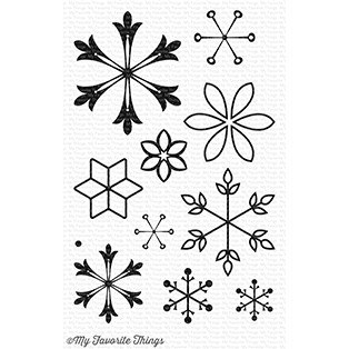 My Favorite Things SNOWFLAKE SPLENDOR Clear Stamps CS235