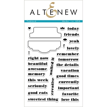 Altenew TABBED Clear Stamp Set ALT1955