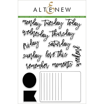 Altenew JOURNAL CARD BUILDER Clear Stamp Set ALT1950