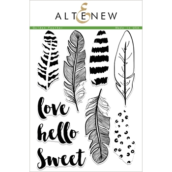 Altenew GOLDEN FEATHER Clear Stamp Set ALT1949