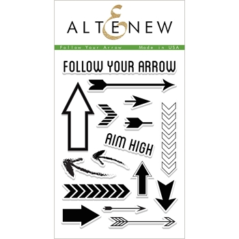 Altenew FOLLOW YOUR ARROW Clear Stamp Set ALT1947