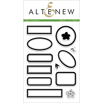 Altenew DOT LABELS Clear Stamp Set ALT1946