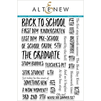 Altenew SCHOOL DAYS  Clear Stamp Set ALT1952
