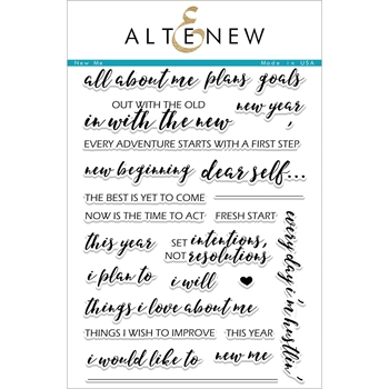 Altenew NEW ME Clear Stamp Set ALT1951
