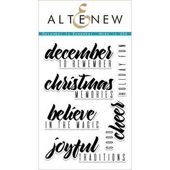 Altenew DECEMBER TO REMEMBER Clear Stamp Set ALT1945