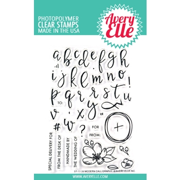 Avery Elle Clear Stamps MODERN CALLIGRAPHY  ST-17-39