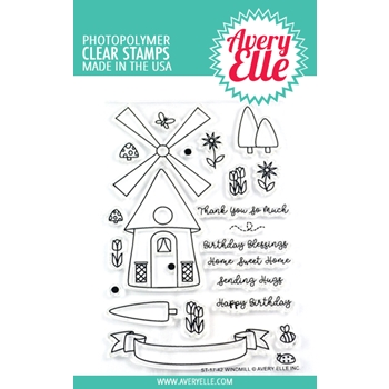 Avery Elle Clear Stamps WINDMILL ST-17-42
