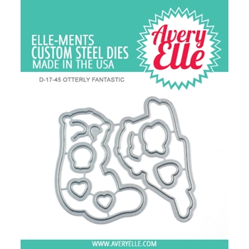 Avery Elle Steel Dies OTTERLY FANTASTIC D-17-45
