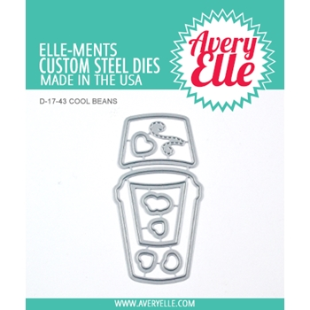 Avery Elle Steel Dies COOL BEANS D-17-43