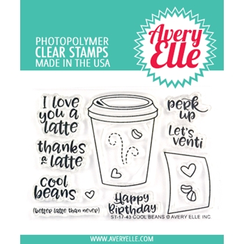 Avery Elle Clear Stamps COOL BEANS ST-17-43