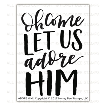 Honey Bee ADORE HIM Clear Stamp Set hbst-94