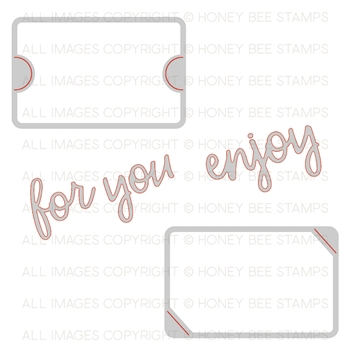 Honey Bee GIFT CARD SLOTS Dies hbds-gcs