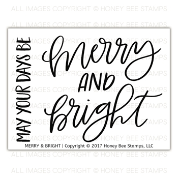 Honey Bee MERRY & BRIGHT Clear Stamp Set hbst-92