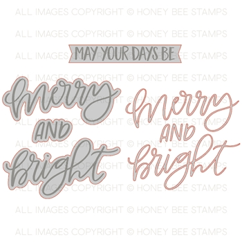 Honey Bee MERRY & BRIGHT Dies hbds-92