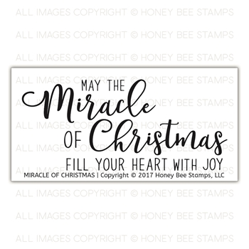 Honey Bee MIRACLE OF CHRISTMAS Clear Stamp Set hbst-93
