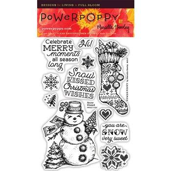 Power Poppy SNOW KISSED Clear Stamp Set PPOCT1701