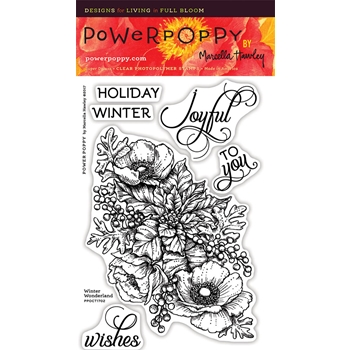 Power Poppy WINTER WONDERLAND Clear Stamp Set PPOCT1702