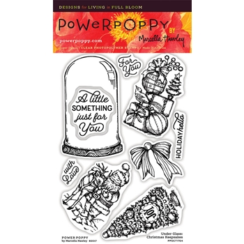 Power Poppy UNDER GLASS CHRISTMAS TRADITIONS Clear Stamp Set PPOCT1704