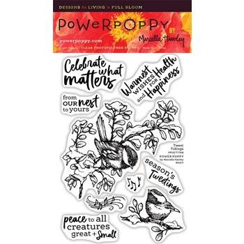 Power Poppy TWEET TIDINGS Clear Stamp Set PPOCT1708