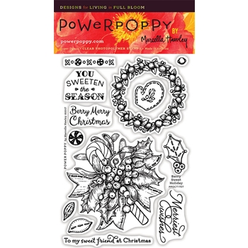Power Poppy BERRY SWEET HOLIDAY Clear Stamp Set PPOCT1707