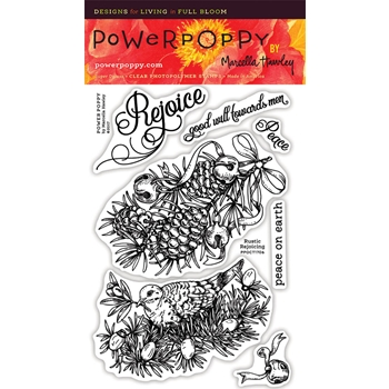 Power Poppy RUSTIC REJOICING Clear Stamp Set PPOCT1706