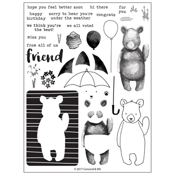 Concord & 9th HI THERE BEAR Clear Stamp Set 10287
